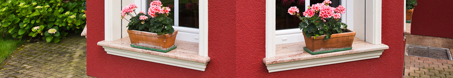 windowsills, handles, glass, shades for satler windows and doors